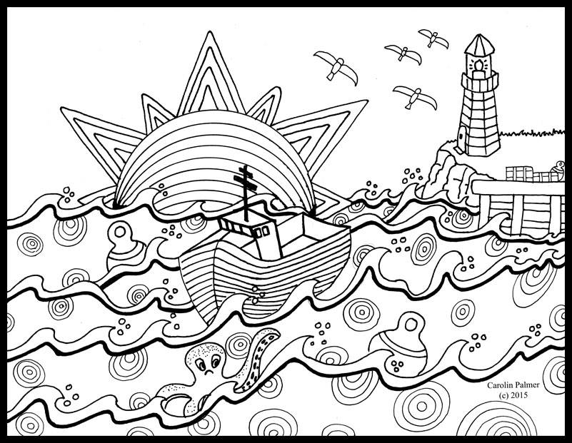 nautical coloring pages for adults - photo#19
