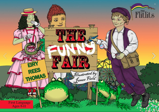 The Funny Fair: drawing from The Flitlits by Eiry Rees Thomas