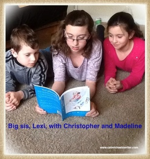 three siblings read Sweet T and the North Wind