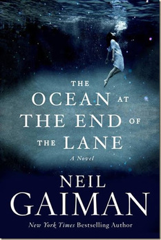 Book cover: Murky blue ocean with title in white letters: shows little girl in white nightie breathing underwater, face almost to the surface